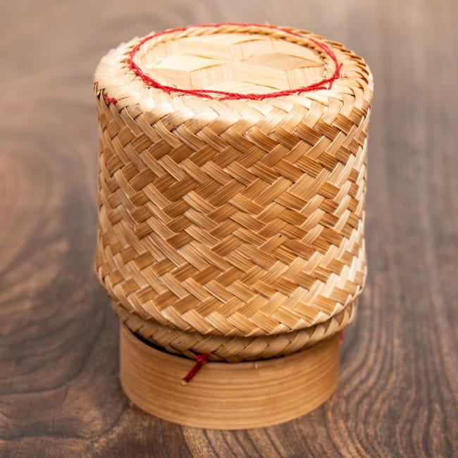 タイの竹製ごはんケース - 中 1