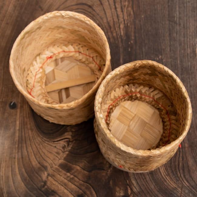 タイの竹製ごはんケース - 大 3 - フタをはずしてみました。