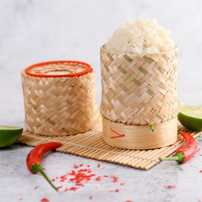 タイの竹製ごはんケース - 大 7 - タイでの使用例