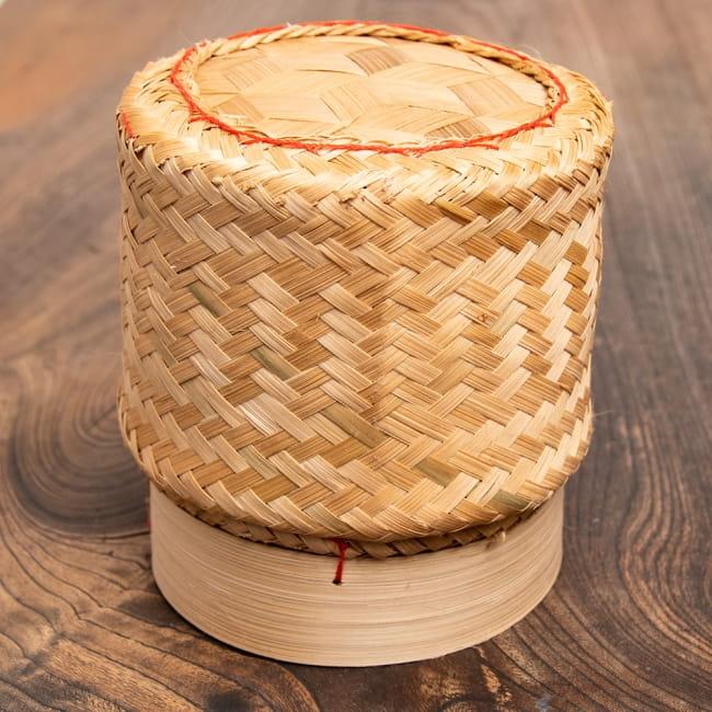 タイの竹製ごはんケース - 大の写真