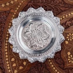 タイのお供え入れ 飾り皿 - 直径:約14cm