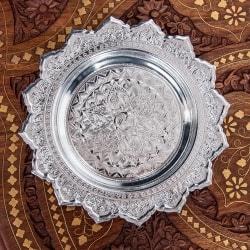 タイのお供え入れ 飾り皿 - 直径:約18.5cm