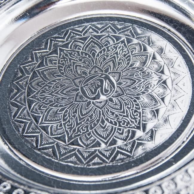 タイのお供え入れ 飾り皿 - 直径:約22cm 4 - 中央部の様子です。