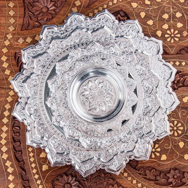 タイのお供え入れ 飾り皿 - 直径:約22cm 7 - 4つのサイズを重ねてみました。