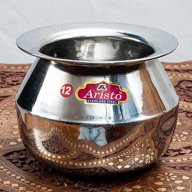 ステンレスのビリヤニ鍋 3人分以上サイズ(1800cc)の写真