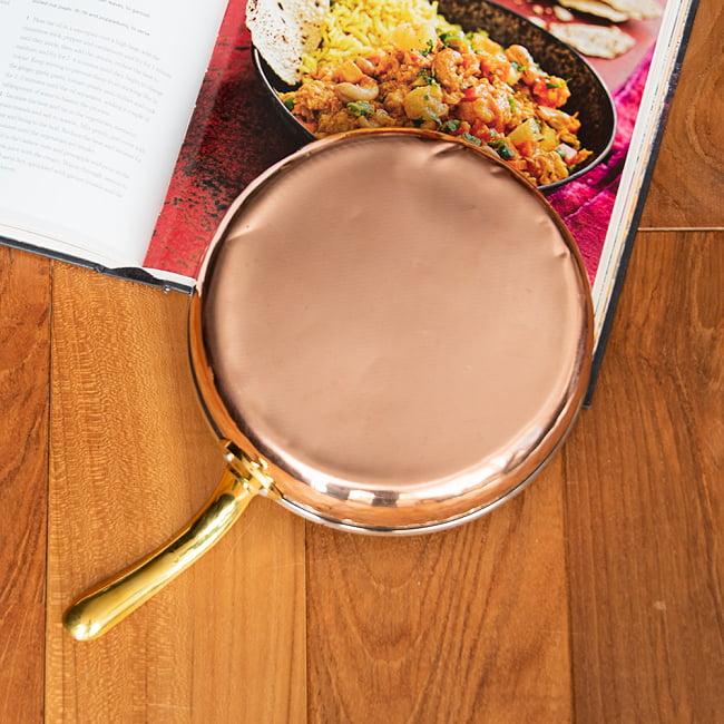 銅装飾のロイヤルフライパン(約19cm×4.5cm) 4 - 裏面の写真です