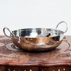 槌目仕立てステンレス調理用カダイ - 直径約24.5cm