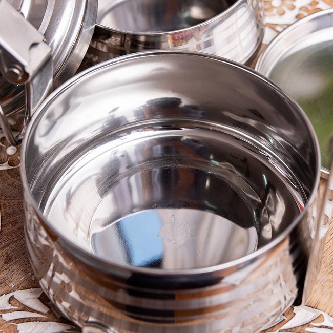 【2段】インドのステンレス弁当箱[17cm] 9 - ステンレスなので、匂いがつきにくいです。