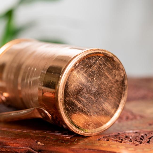 銅製水差し アーユルヴェーダやヨガに使われる ウォータージャグ・ピッチャー〔約1600ml〕 5 - 底面です