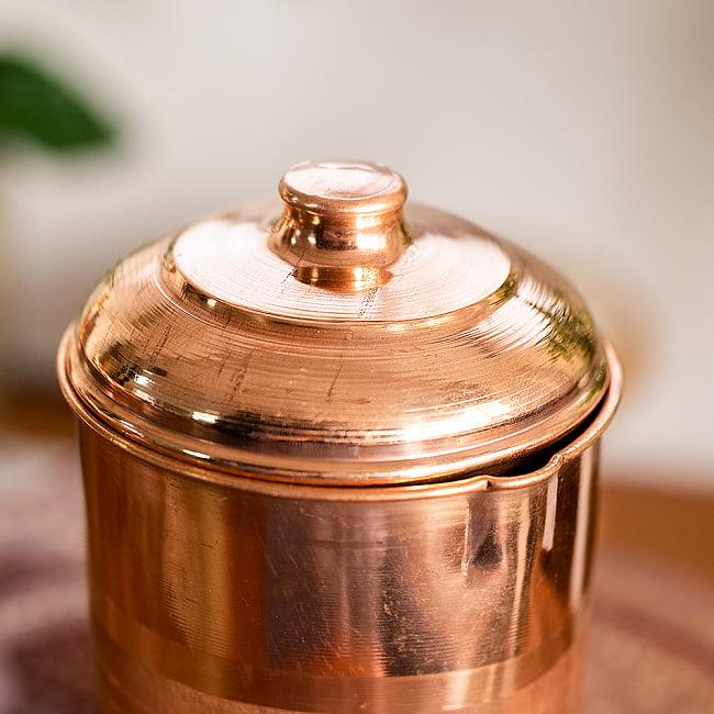 銅製水差し アーユルヴェーダやヨガに使われる ウォータージャグ・ピッチャー〔約1600ml〕 9 - 注ぎ口の拡大写真です