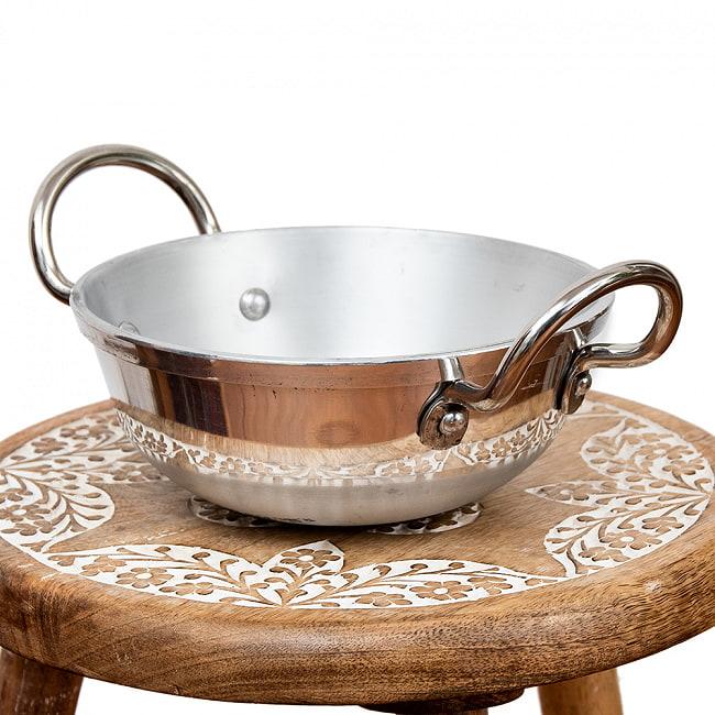 インドの食器&鍋 アルミニウム カダイ 【直径19cm】の写真