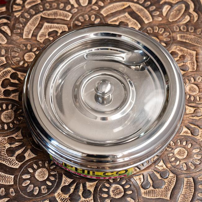 中ぶた付き 外蓋シースルー円形スパイスボックス 7種類のスパイスを入れられる![直径約21cm] 6 - 蓋を閉じたところです