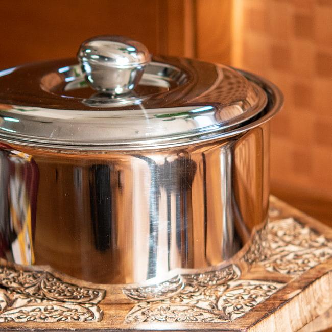 チャパティ保温器 インド料理 チャパティーケース 1600ml 2 - 横からの写真です