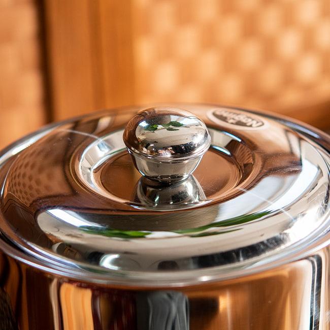 チャパティ保温器 インド料理 チャパティーケース 1600ml 4 - 取っ手部分の拡大です