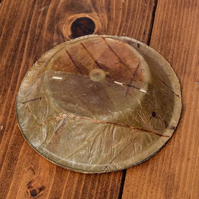 【約25枚セット】インドのリーフプレート ミニボウル 直径13.5cm 5 - 底面の様子です。
