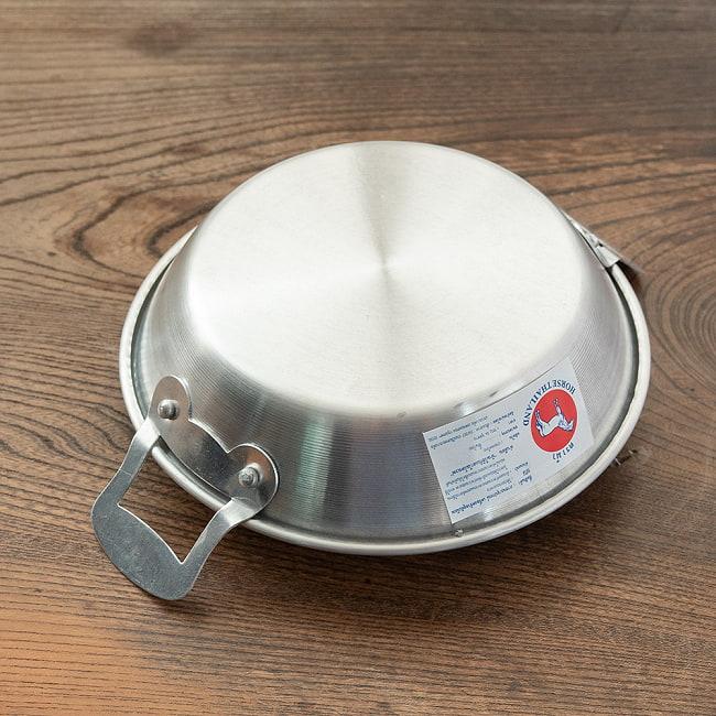 【4個セット】キャンプにも便利なタイの 取っ手付きアルミ小皿/小鍋 6 - 裏面です。