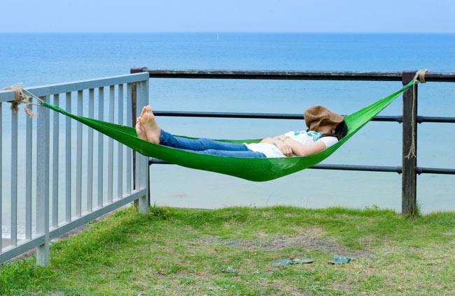 ベトナムのハンモック 大(約260cm)の写真3 - 風通しがいいのでとても寝心地が快適です。