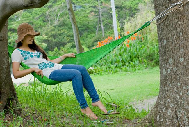 ベトナムのハンモック 大(約260cm) 7 - 素敵なリラックスタイムをお過ごしください。