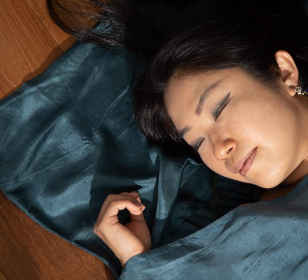 ベトナムのシルク寝袋[シングルサイズ] 2 - シルクなので光沢がありますね