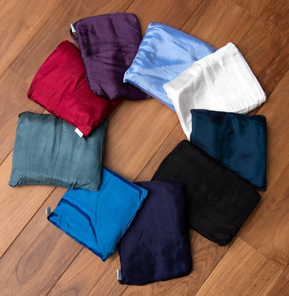 ベトナムのシルク寝袋[シングルサイズ] 7 - 複数ある色の中からお選び頂けます