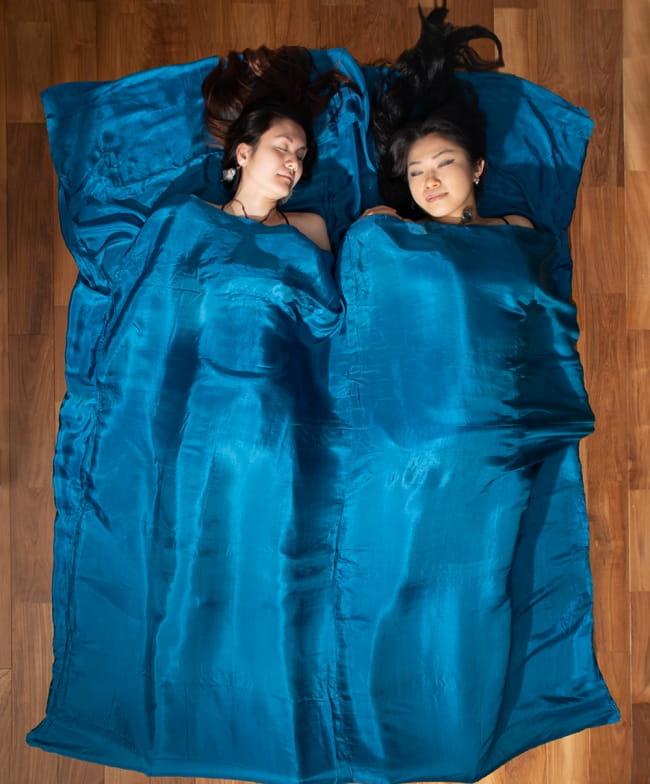 ベトナムのシルク寝袋[ダブルサイズ] 1