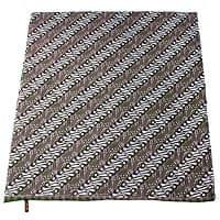 インドとアジアの布のセール品:[夏のセール]〔215cm*100cm〕インドネシア伝統!コットンバティック - 緑・王宮模様