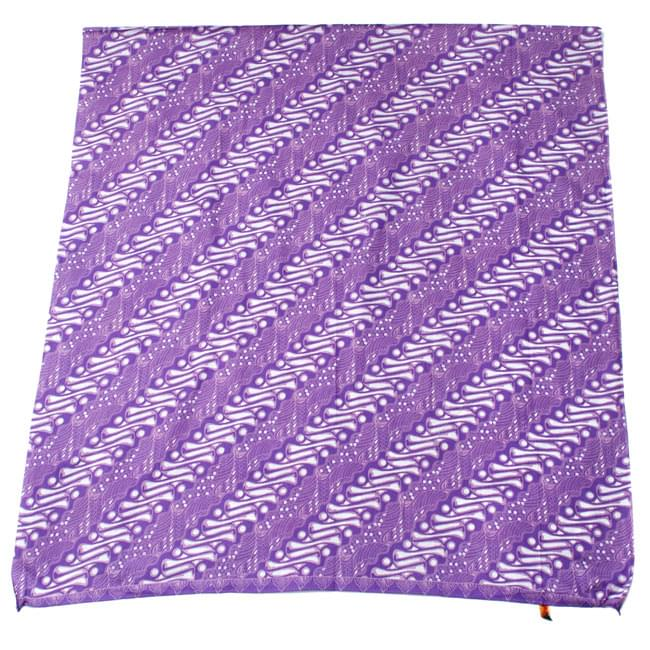 〔215cm*100cm〕インドネシア伝統!コットンバティック - 紫・王宮模様の写真