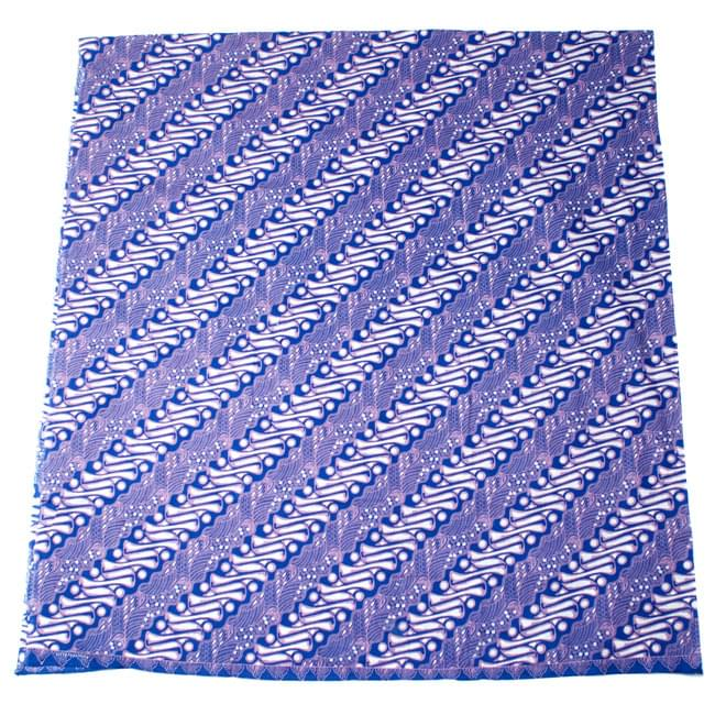 〔215cm*100cm〕インドネシア伝統!コットンバティック - 青紫・王宮模様の写真