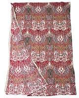 〔160cm*115cm〕インドネシア伝統!コットンバティック - 赤・更紗