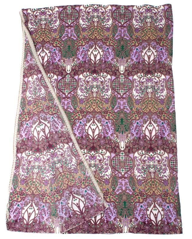 〔160cm*115cm〕インドネシア伝統!コットンバティック - 紫・更紗の写真