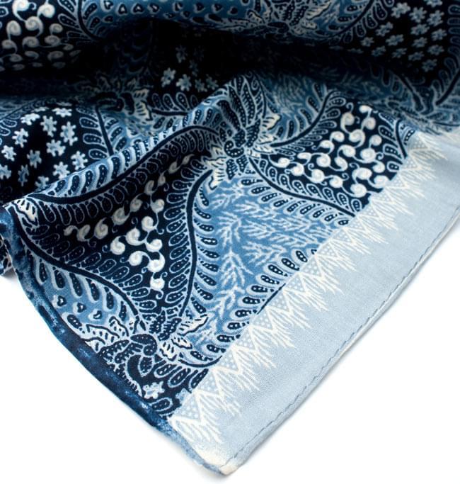 〔210cm*110cm〕インドネシア伝統!コットンバティック - 青・更紗の写真5 - フチ部分の拡大写真です