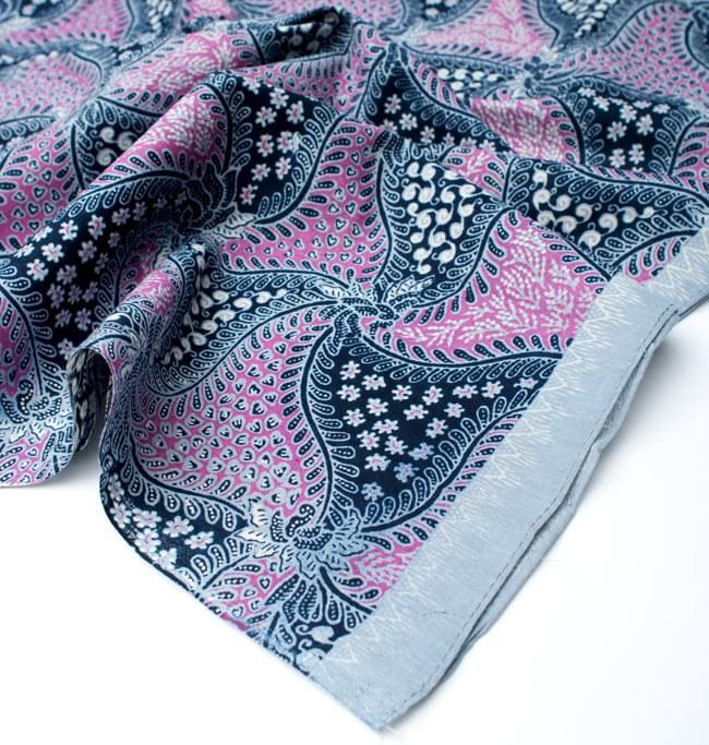 〔210cm*110cm〕インドネシア伝統!コットンバティック - ピンク・更紗 5 - フチ部分の拡大写真です