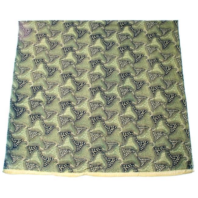〔210cm*110cm〕インドネシア伝統!コットンバティック - 緑・更紗の写真