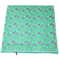 〔210cm*110cm〕インドネシア伝統!コットンバティック - 緑・花更紗