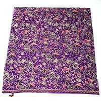 〔215cm*100cm〕インドネシア伝統!コットンバティック - 紫・花更紗