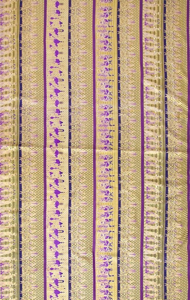 〔190cm*120cm〕インドネシア伝統のコットンバティック - 紫色・民族模様の写真