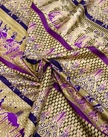 〔190cm*120cm〕インドネシア伝統のコットンバティック - 紫色・民族模様