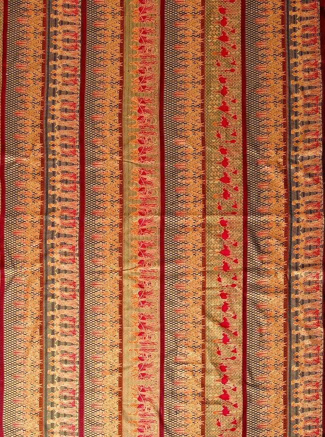〔190cm*120cm〕インドネシア伝統のコットンバティック - 赤色・民族模様の写真