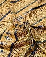 〔190cm*120cm〕インドネシア伝統のコットンバティック - 黒色・民族模様
