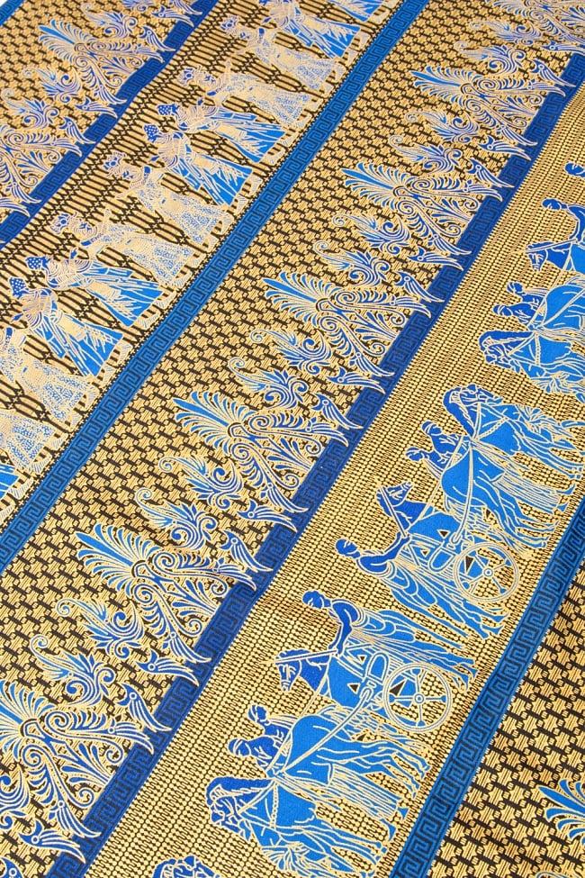 〔190cm*120cm〕インドネシア伝統のコットンバティック - 青色・民族模様 3 - 拡大写真です