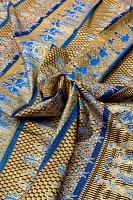 〔190cm*120cm〕インドネシア伝統のコットンバティック - 青色・民族模様