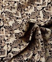 〔180cm*110cm〕インドネシア伝統のコットンバティック - 黒色・伝統模様