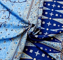 〔170cm*115cm〕インドネシア伝統のコットンバティック - 青色・孔雀