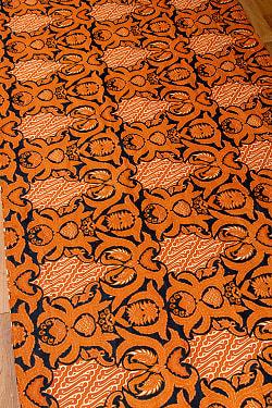 インドネシア伝統模様 ろうけつ染めデザインのコットンバティック〔202cm*105cm〕