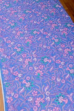 インドネシア伝統模様 ろうけつ染めデザインのコットンバティック〔204cm*110cm〕