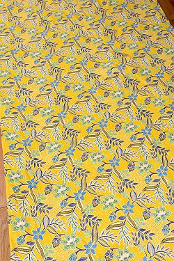 インドネシア伝統模様 ろうけつ染めデザインのコットンバティック〔203cm*104cm〕