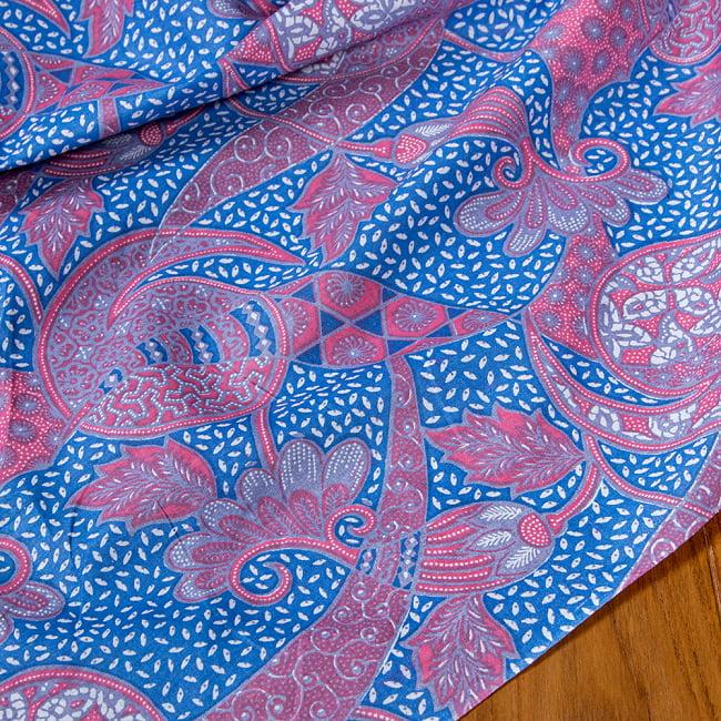 インドネシア伝統模様 ろうけつ染めデザインのコットンバティック〔203cm*107cm〕 6 - 拡大写真です