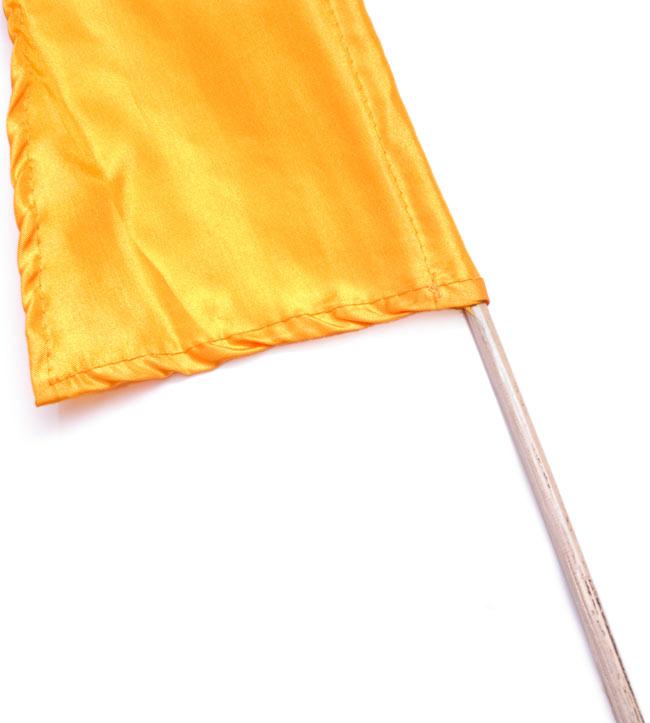 [イエローオレンジ]カラフルプリント - ウンブル・ウンブル(バリのぼり旗)【約50cm】 3 - 手持ち部分の拡大写真です