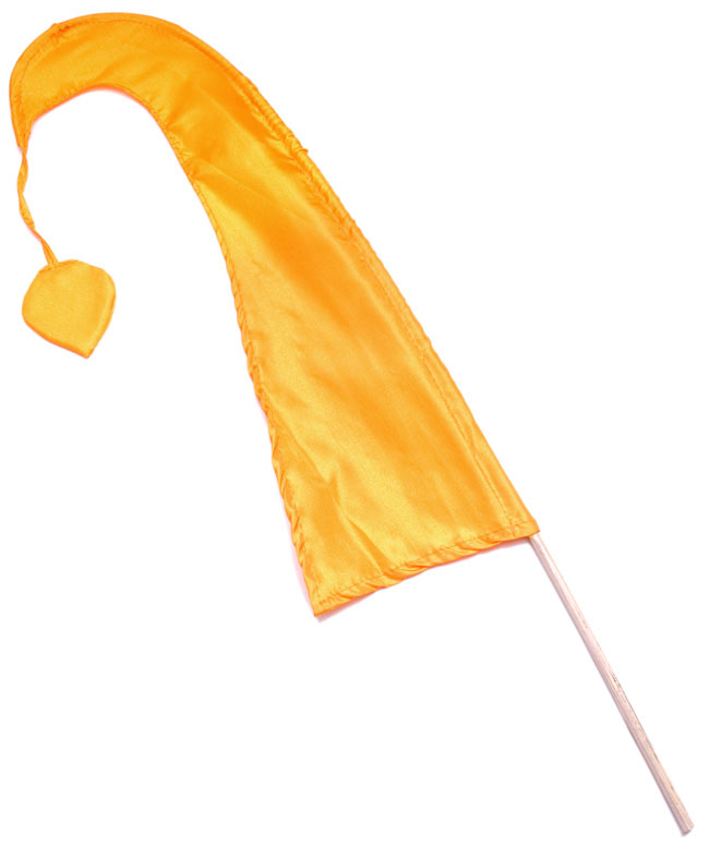 [イエローオレンジ]カラフルプリント - ウンブル・ウンブル(バリのぼり旗)【約50cm】の写真