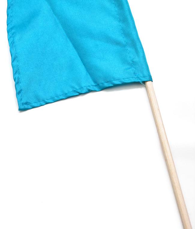 [水色]カラフルプリントウンブル・ウンブル(バリのぼり旗)【約50cm】 3 - 手持ち部分の拡大写真です